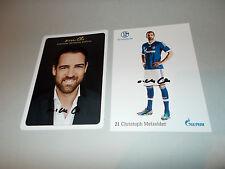 2 x Christoph Metzelder Schalke 04 + BVB  signiert Autogramm auf Autogrammkarte