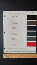 1937 FORD - Original Exterior Car Color Chips - Paint Color Samples