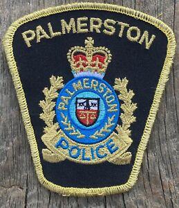 Vintage Palmerston Police Patch Ontario Canada
