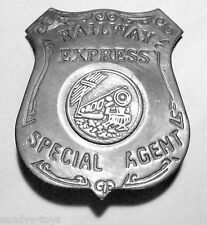 RAILWAY EXPRESS SPECIAL AGENT BADGE POLICE-SHERIFF SOLDERED PIN BACK