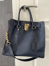 Michael Kors Navy Large Hamilton Bag Saffiano Leather