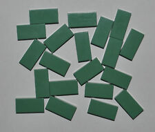 LEGO BULK - 20X SAND GREEN FLAT TILES 1X2 RECTANGLE/SMOOTH PLATES 3069