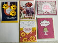 Happy Birthday Handcrafted (5) Greeting Cards & Envelopes