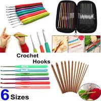 Multicolor Aluminum Handle Knitting Needle Set Crochet Hooks Weave Craft