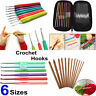 Multicolor Aluminum Handle Knitting Needle Set Crochet Hooks Weave Craft