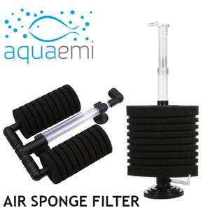 Large Air Driven Sponge Filter Bio-Sponge Corner Aquarium Fish Tank XY-2822/2893