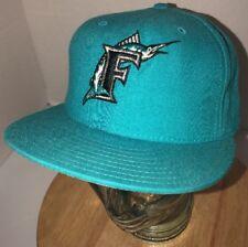 VTG FLORIDA MARLINS 90s Wool New Era Hat Cap DIAMOND COLLECTION 7 1/4 USA 5950