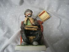 "Emmett Kelly Jr collectible book end exclusively from Flambre 7"" tall #9740"