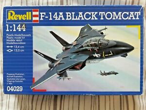 Revell 1/144 F-14A Black Tomcat, decals for 2 US Navy a/c, parts sealed