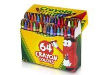 64 Count Crayola Crayons Nontoxic Fun Bright Colored & Sharpener School Supplies