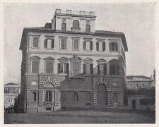 D2041 Roma - Palazzina del Cardinale de Bayane ai Parioli - Stampa - 1923 print