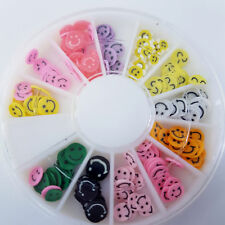 HOT Nail Art Wheel with 12 Slots - Smilie Face Fimo Designs, UK SELLER, FREE P&P
