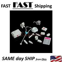 14Pcs Mini Medical Equipment Toys for Barbie Fashion Doll Accessories White New