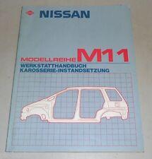 Werkstatthandbuch Reparaturanleitung Karosserieinstandsetzung Nissan Prairie M11