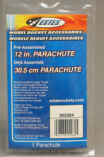 ESTES 12 INCH MODEL ROCKET RECOVERY PARACHUTE 302264 rocketry launch 2264 NEW