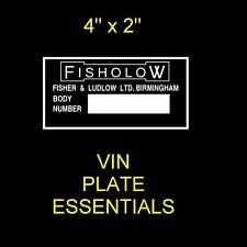 Riley Elf Wolseley Hornet fisholow BMC carrocería Chasis @ vin-plate-essentials