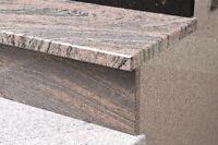 Granit 1. Wahl Treppenstufe Betontreppe Juparana Colombo 3+2cm  NRW  -Gutschein-