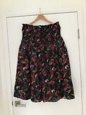 COUNTRY ROAD tropic print midi skirt sz 14 cotton toucan