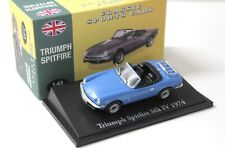 1:43 Atlas By Norev Triumph Spitfire blue Classic Cars NEW bei PREMIUM-MODELCARS