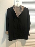 Gallery Hood Water Resistant Jacket - Black - Women's Size SMALL
