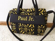 Batman custom handmade EMIJANE Diaper Bag w/c pad free embroidery