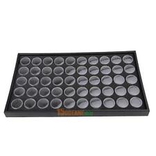 50 Pots Nail Art Rhinestones Box Jewelry Display Storage Case Holder Organizer