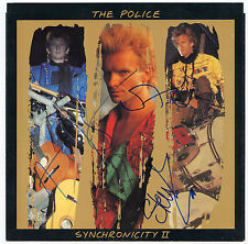THE POLICE Signed Synchronicity II Picture Sleeve Complete 1984  PSA Guarantee