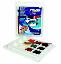 Prang Classic Tempera Cakes, 9 Color Set with Brush, Assorted Colors (80900), Ne
