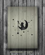 A5 Baby Moon Mylar Reusable Stencil Airbrush Painting Art Craft DIY Home Decor