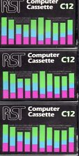 RST x 3 COMPUTER CASSETTE TAPES BLANK C12 - NEW SINCLAIR ZX ACORN BBC COMMODORE