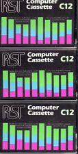 RST x 3 COMPUTER CASSETTE magnetiche. vuoto C12-NUOVO SINCLAIR ZX Acorn BBC COMMODORE