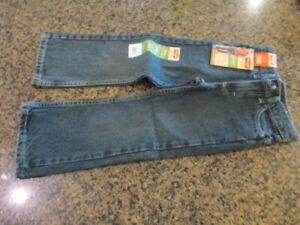 Wrangler Boys Jeans 5 Reg Boot Blue Denim Adjustable Waist NWT relaxed 6BRLWFD