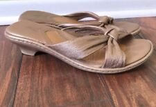 Born Gold Woven Slide sandals With Small Heel women size 9
