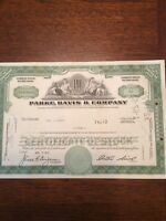 Parke,Davis & Company Dated 1969 10 Shares Invalid  SHARE CERTIFICATE