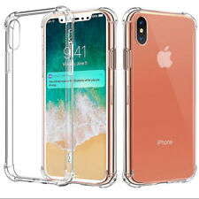 360° Protection Clear Silicone Full Cover Case Armor Shell For iPhone X 8 7 Plus