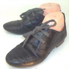 Naya Womens Shoes Oxfords TEAK US 7 M Black Leather Lace Up Snake Print Cap Toe