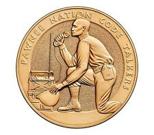 "USA MEDAL BU PAWNEE NATION TRIBE CODE TALKERS""CHATICKS-SI-CHATICKS,""TRANSLATES M"
