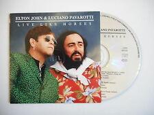 ELTON JOHN & LUCIANO PAVAROTTI : LIVE LIKE HORSES [ CD SINGLE ] ~ PORT GRATUIT
