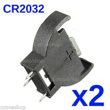 PORTAPILAS BOTON CR2032 VERTICAL PARA SOLDAR PCB X 2 battery cell CR2032 socket