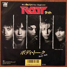 "Ratt – Body Talk / Slip Of The Lip Japan 7"" Vinyl Promo White Label P-2216"