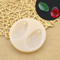 Transparent Silicone 2 Holes Mold Mould DIY Pendant Making Jewellery Handcrafts