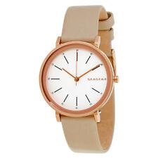 Skagen Hald Tan Leather Strap Watch 34mm Ladies Watch SKW2489 NEW!  USA Seller!