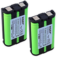 2x HQRP Phone Battery for Panasonic HHR-P104 CS90499 TL26411 12423885 Type 29