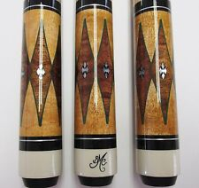 BOB MEUCCI BMC POOL CUE PRO SERIES ANGEL-3 PRO LEVEL WRAPLESS w/ INLAY 6PT $1350