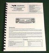 """Yaesu FT-8900R Service Manual: 11"""" X 17"""" Color Board Layouts & Plastic Covers!"""
