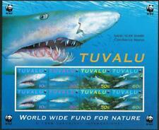 TUVALU - 2000 WWF 'SAND TIGER SHARK' Miniature Sheet MNH [6391]