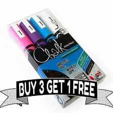 Uni-Ball PWE-5M Chalk Marker - Wallet of 4 - Spring Edition *BUY 3 GET 1 FREE*