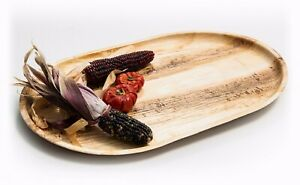 Disposable Large Palm Leaf Platter 55x30cm - Eco Natural Catering Party Grazing