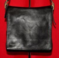 Vtg COACH LEGACY West Black Leather Messenger Cross-body Shoulder Bag Purse 9828