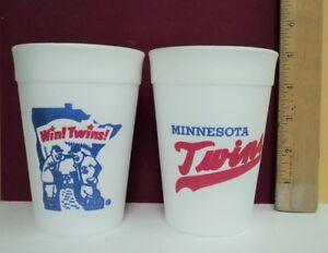 1960's Styrofoam Glass Cup Minnesota Twins * SUPER RARE * -  FLASH SALE